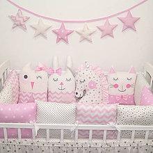 Textil - Modulové hniezdo - ružové - 10695221_