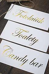 Papiernictvo - Informačné kartičky s nápisom - 10694195_