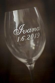 Papiernictvo - Nálepka na svadobný pohár - Meno a dátum - 10694297_