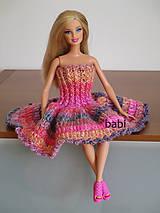 Šatičky pre Barbie (Ružová)