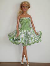 Šatičky pre Barbie (Zelená)