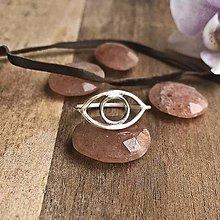 Prstene - Stříbrný prsten OKO - 10694514_