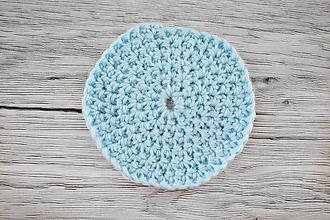 Úžitkový textil - Háčkované odličovacie tampóny (Modrý tampónik) - 10696186_
