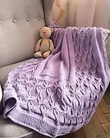 Textil - Ručne pletená detská deka - 10695476_