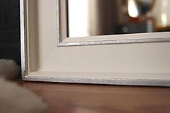 Zrkadlá - Zrkadlo - Čistá línia bielo-strieborné - 10694028_