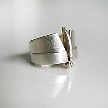 Prstene - Moderní prsten Lennart Silver - 10694908_