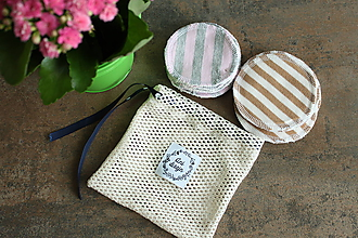 Úžitkový textil - ZEROWASTE odličovacie tampóny - veľká sada - 10696111_