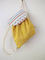 Detské tašky - Detský ruksak mini - žltý Indián - 10696059_