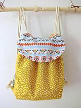 Detské tašky - Detský ruksak žltý - Indián - 10696060_