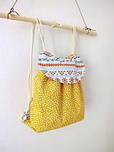 Detské tašky - Detský ruksak žltý - Indián - 10696062_