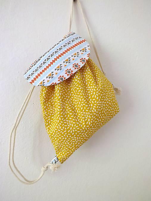 Detský ruksak žltý - Indián