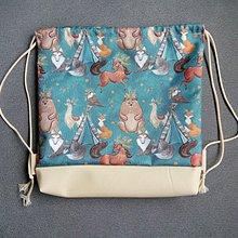 Batohy - Nepremokavý batôžtek  zvieratká Indiàni - 10695383_