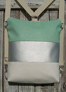 "Batohy - ""backpack 2in1 silver&minth"" - Batoh & taška cez rameno - 10694244_"