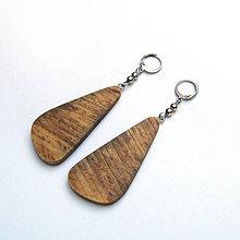 Náušnice - Drevené náušnice visiace - špaltované bukové kúsky - 10695621_
