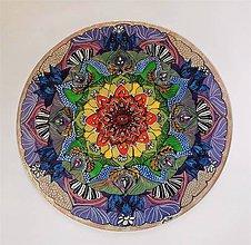 Obrazy - Mandala čakrová na želanie - 10693898_