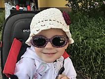 Detské čiapky - Letný klobúčik s kvetinkou - 10697436_