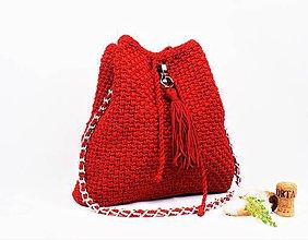 Kabelky - Kabelka batohová lux červená (Zelená) - 10698670_