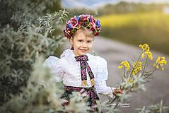 Ozdoby do vlasov - Kvetinová čelenka UNI veľkosť pre deti aj dospelé - 10697878_