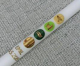 Detské doplnky - Krstová sviečka Emilio - 10698202_