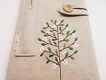 Papiernictvo - Zápisník vyšívaný A5 - Rozkvitnutý strom - 10697974_