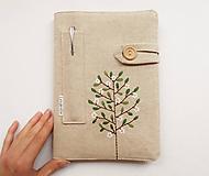 Papiernictvo - Zápisník vyšívaný A5 - Rozkvitnutý strom - 10698031_