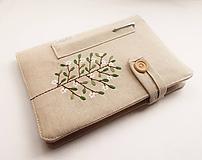 Papiernictvo - Zápisník vyšívaný A5 - Rozkvitnutý strom - 10698240_
