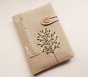Papiernictvo - Zápisník vyšívaný A5 - Rozkvitnutý strom - 10698945_