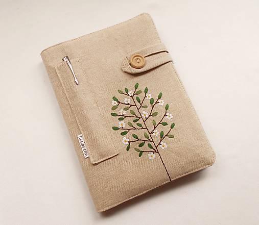 Zápisník vyšívaný A5 - Rozkvitnutý strom