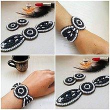 Sady šperkov - Čierno/ biela elegancia - 10697462_
