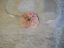 náramok pre družičky svetloružové ružičky