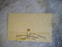 "Papiernictvo - svadobná obálka na peniaze ""zlaté ruže"" - 10696488_"