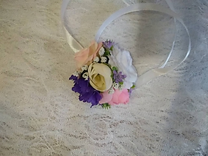 Pierka - náramok pre družičky fialovo-ružový - 10696358_