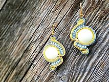 Náušnice - Pastelová - soutache earring - ručne šité šujtášové náušnice - 10698243_