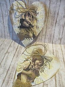 Dekorácie - Vintage srdiečko - 10698224_