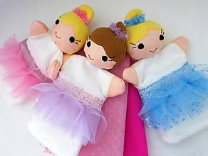 Hračky - Maňuška baletka vo farebnej tutu sukničke - na objednávku - 10696633_