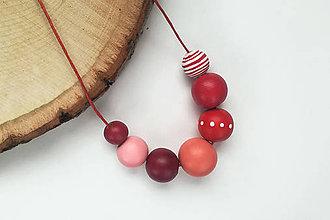 Náhrdelníky - Červený náhrdelník - 10697170_