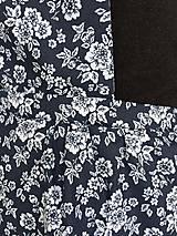 Iné oblečenie - kuchynská zástera modrotlač biele kvety - 10697967_