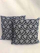 Úžitkový textil - obliečka na vankúš bavlnená modrotlač - 10698033_