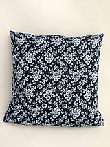 Úžitkový textil - obliečka na vankúš bavlnená modrotlač - 10698034_