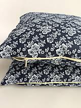 Úžitkový textil - obliečka na vankúš bavlnená modrotlač - 10698035_