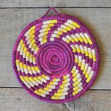 Pomôcky - Pletené Dekorácie, Ručne pletená podložka z palmových listov - 10697712_
