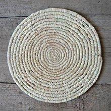 Pomôcky - Ručne pletená podložka z palmových listov - 10697909_