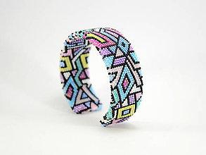 Náramky - Háčkovaný korálkový náramok Pastel - 10698748_