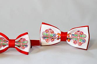 Doplnky - Pánsky motýlik s ľudovým vzorom (Podunajsko - Čataj 1) - 10697975_