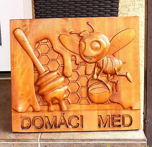Drevorezba reklama na bránu Domáci včelí med