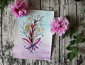 Kresby - Akýsi kvet - originál - 10696265_