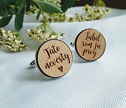 Šperky - Manžetové gombičky pre svadobného otca - 10697871_