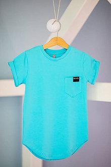 Detské oblečenie - Tričko tyrkysové - Revel - 10698733_