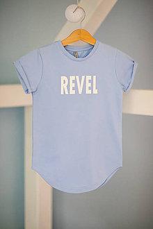 Detské oblečenie - Predĺžené tričko svetlo-modré - RVL - 10698736_