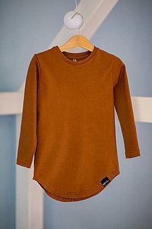 Detské oblečenie - Predĺžené tričko cognac - RVL - 10698773_